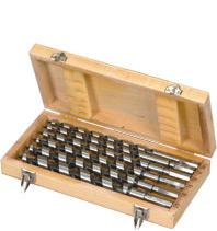 Estuche de madera, Brocas salomónicas 6 piezas