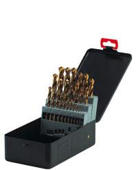 HSS-TIN twist drill bits DIN 338 ground